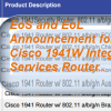 EoS and EoL Announcement for the Cisco 1941W Integrated Services Router