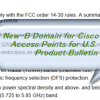 New–B Domain for  Cisco Aironet Access Points for U.S. (FCC) Product Bulletin