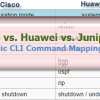 Tips: Cisco vs. Huawei vs. Juniper Basic CLI Commands