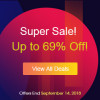 Super Sale Now! Up to 69% Off!