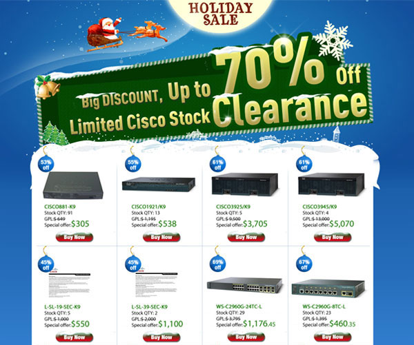 Christmas Cisco buy big discount