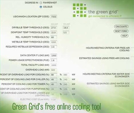 green grid free cooling tool