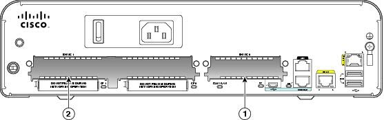 Interface Card Slot Locations on Cisco 1900 Series Routers