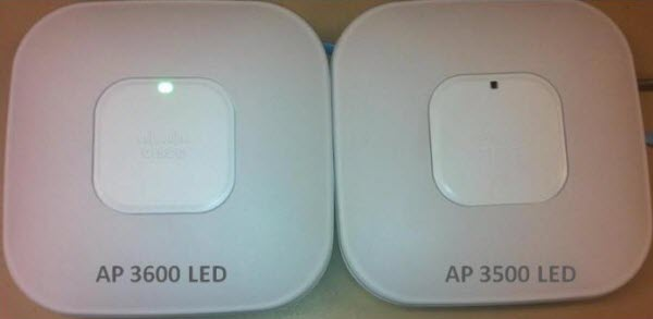 LED Appearance in the AP 3600i and the AP 3500