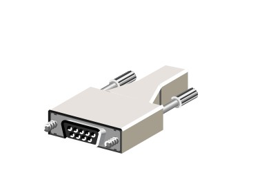 RJ-45-to-DB-9 serial adapter