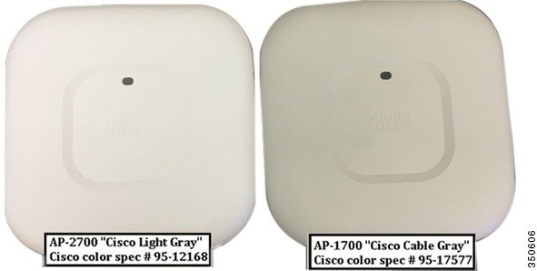 Cisco Aironet 1700 Series is slightly darker than the 2700 Series
