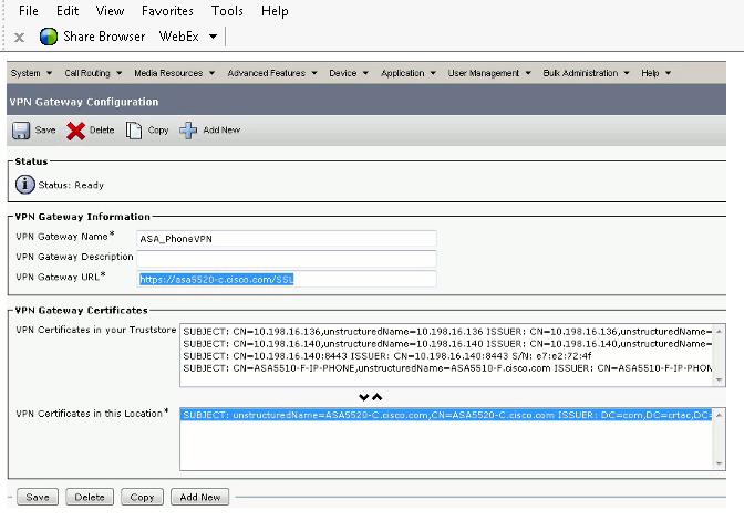 Configure VPN Gateway