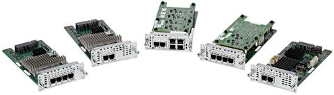 Cisco FXO, FXS, Combo 2FXS,4FXO NIMs Compatible with the Cisco ISR 4000 Family
