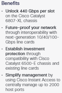 Benefits of Cisco Catalyst 6800 Supervisor Engine 6T