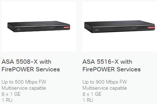 ASA 5508-X and 5516-X