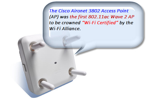 First 802.11ac Wave 2 AP-Cisco Aironet 3802 AP