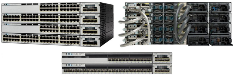 Cisco Catalyst 3750-X Series Switches-Front and Back