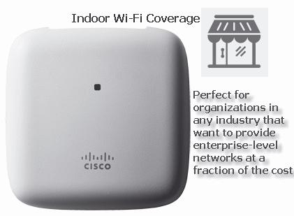 Аксес-пойнт Cisco Aironet 1815i, 802.11ac Wave 2; 2x2:2SS; Int Ant; E Reg Domain, AIR-AP1815I-E-K9