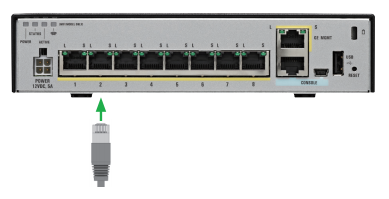 how to connect to a cisco switch using ethernet cable