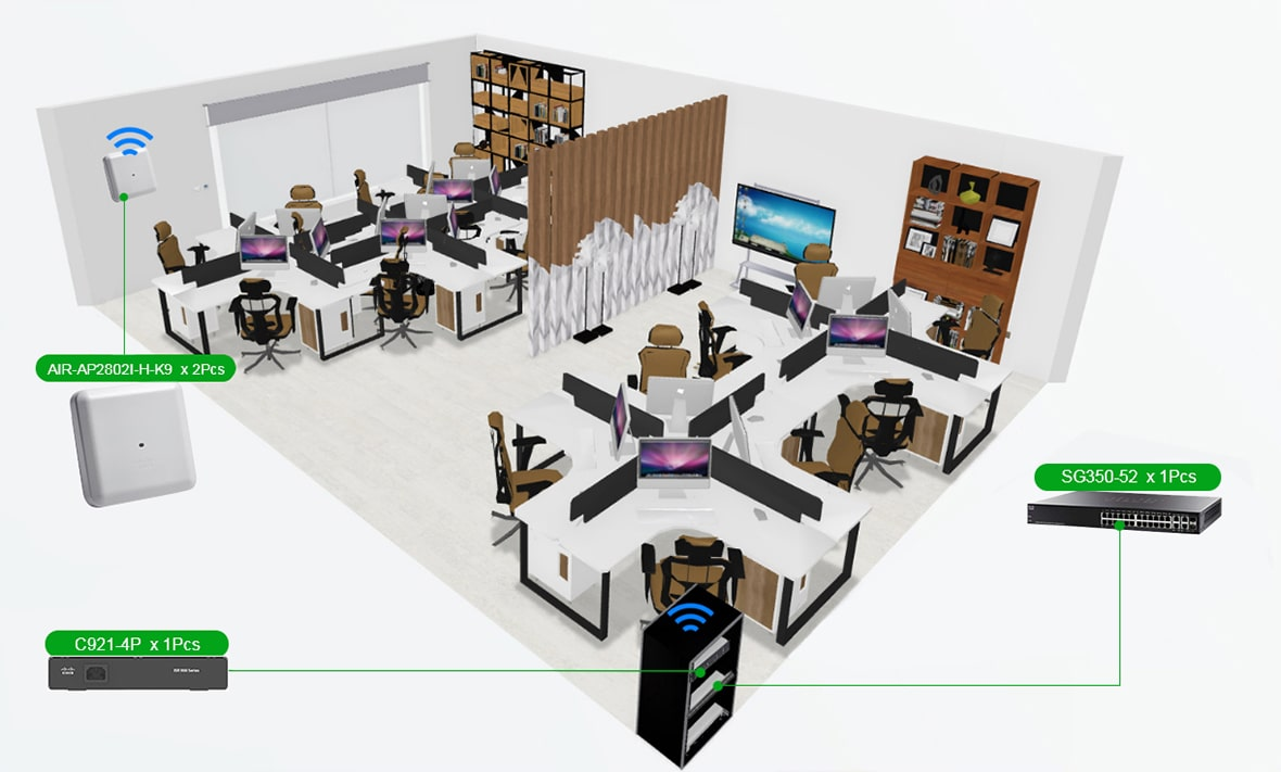 Cisco Enterprise Office Networking Solutions for 50-people