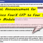 EoS & EoL Announcement for the Cisco FourX CFP to Four SFP+ Converter Module