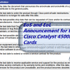 EoS and EoL Announcement for the Cisco Catalyst 4500E Line Cards