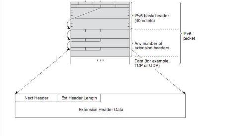an IPv6 Header followed by Extension Header-2