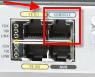 console port on a Cisco 1800 series router