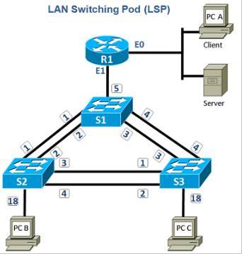 LAN switching Pod,LSP