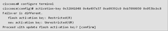 new license key to the ASA