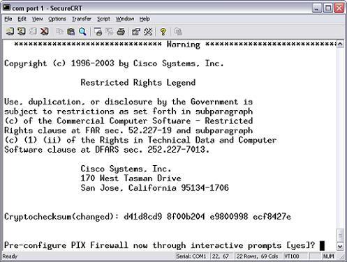 Cisco pix config
