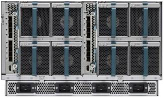 5108 blade server chassis rear with UCS 2200 Fabric Extenders