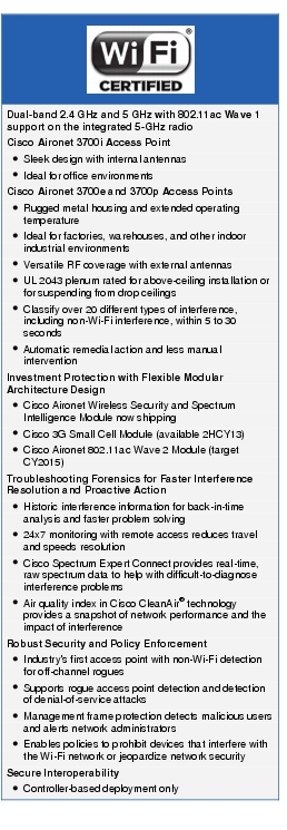 Cisco Aironet 3700-WiFi Certified