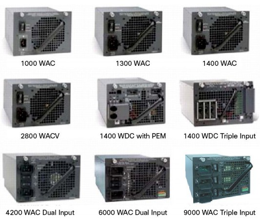 Power Supplies for Cisco 4500 SWITCHES