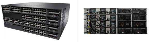 Cisco Catalyst 3650 Series Switches (Front and Back)