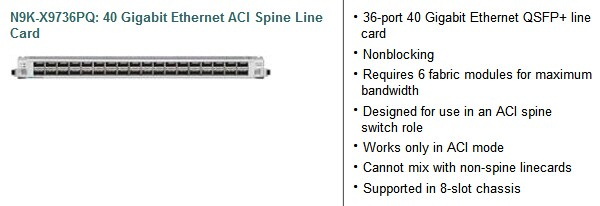 Cisco Nexus 9500 Platform ACI-Enabled Line Card