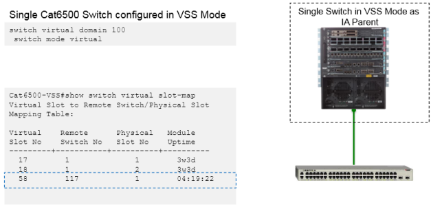 Catalyst Instant Access Components-Single Switch VSS Mode