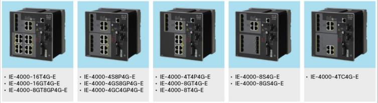 Cisco IE 4000 Models