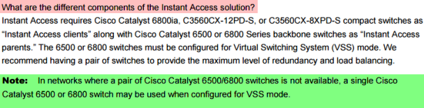 What are the different components of the Instant Access solution