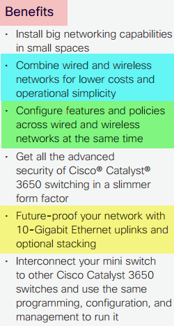 Cisco Catalyst 3650mini-Benefits