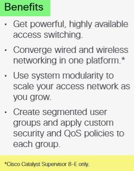 Cisco Catalyst 4500 Supervisor Engine 8-E and 8L-E-Benefits
