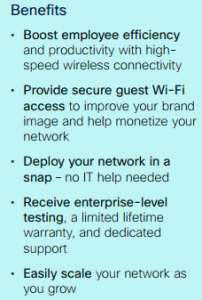 Benefits-Cisco Wireless Solutions for Small and Midsize Businesses