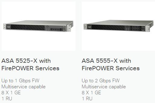 asa 5525-X and ASA 5555-X