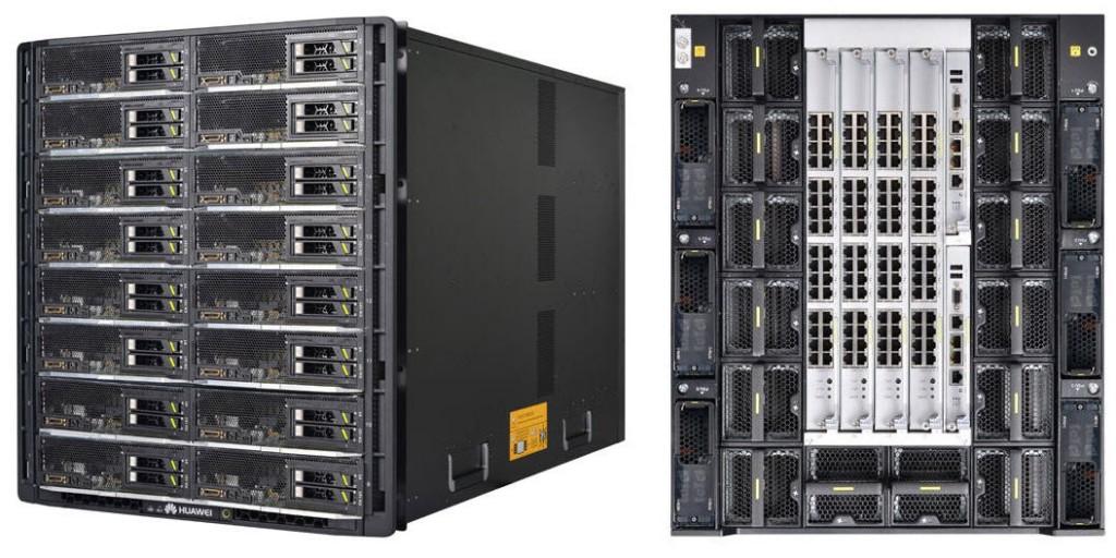 View of E9000 Server