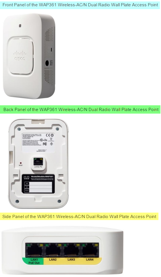 The New Cisco Wap361 The Wireless Ac N Dual Radio Wall Plate Access Point With Poe Router Switch Blog
