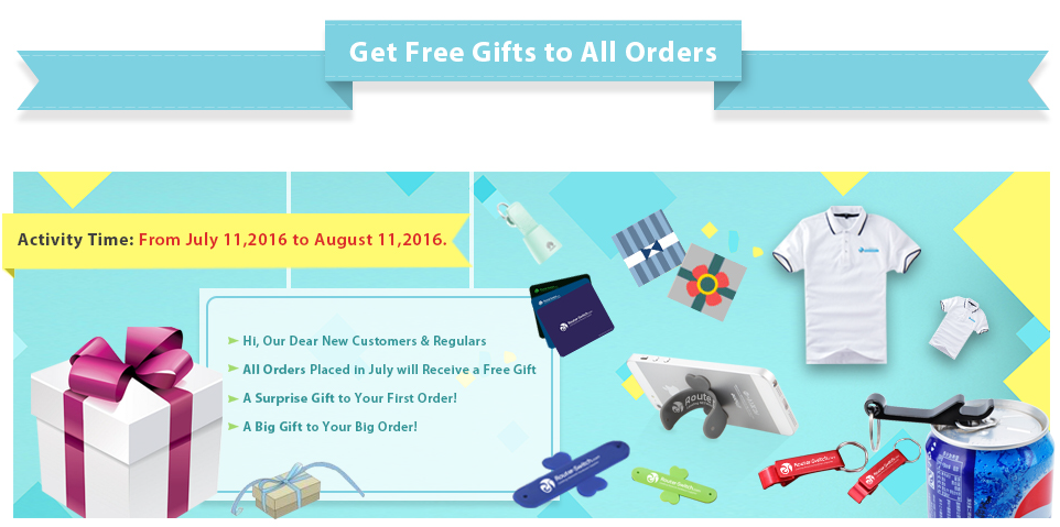 Get Free Gifts for All Orders