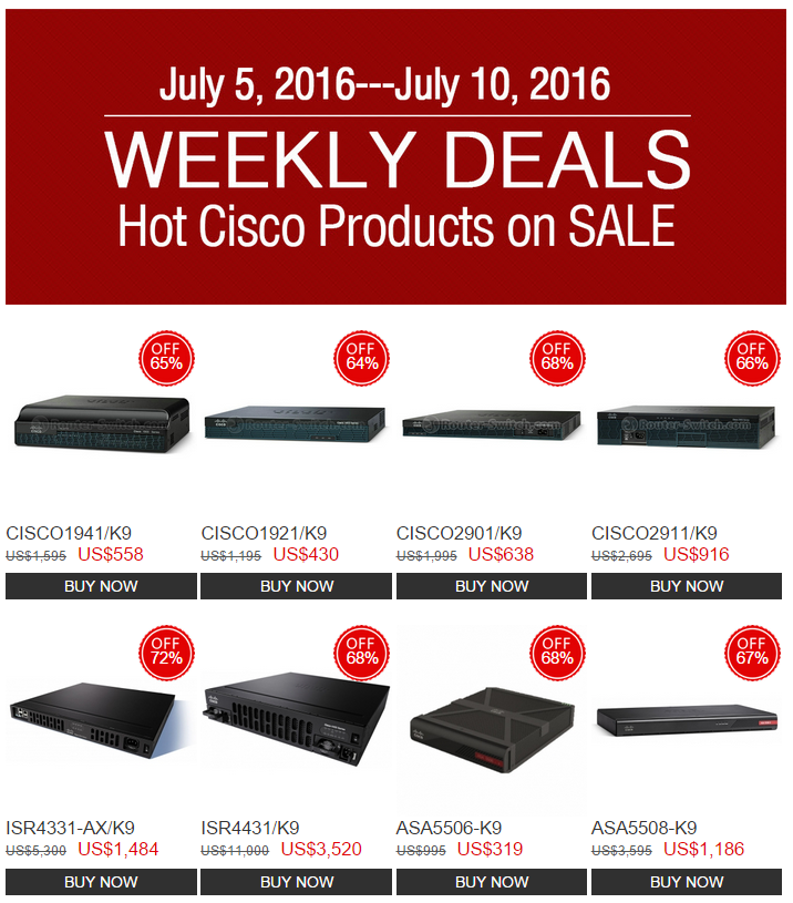 Weekly Deals-Router-switch