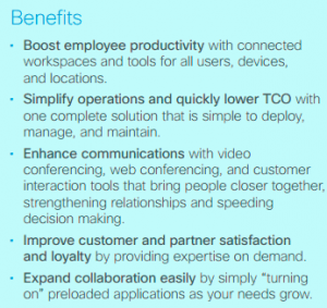 Benefits-Cisco Business Edition 7000
