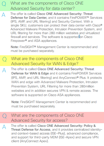 Cisco ONE Advanced Security for...