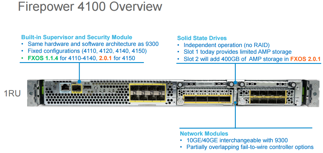 Cisco's High-end Next Generation Firewalls-Firepower 4100 and 9300